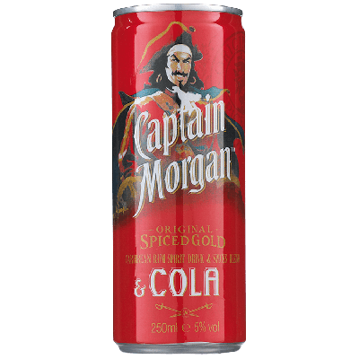 Captain Morgan Rum & Cola 25 cl