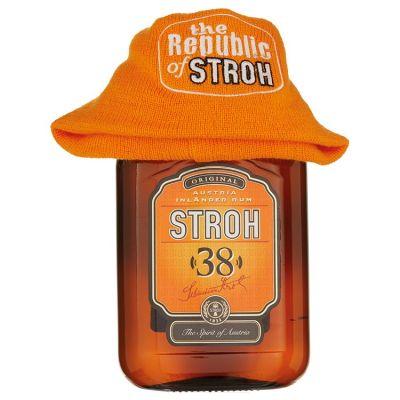 Stroh Rum 38% met gratis muts! 70 cl