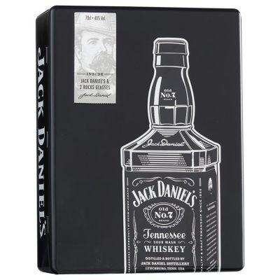 Jack Daniel's  Whiskey Met 2 tumblers in tinnen blik 70 cl