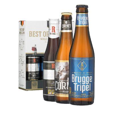Best of Belgium Cornet, Brugge Tripel, Rodenbach Grand Cru 3 x 33 cl