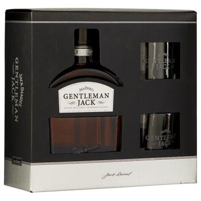 Jack Daniel's Gentleman Jack Whiskey Met 2 tumblers 70 cl