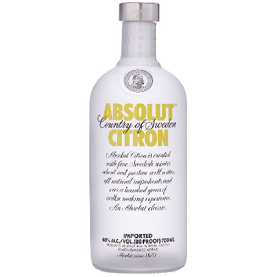 Absolut Citron Vodka 70 cl