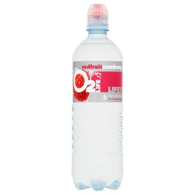 O2LIFE Mineraalwater Red Fruit Cranberry 75 cl