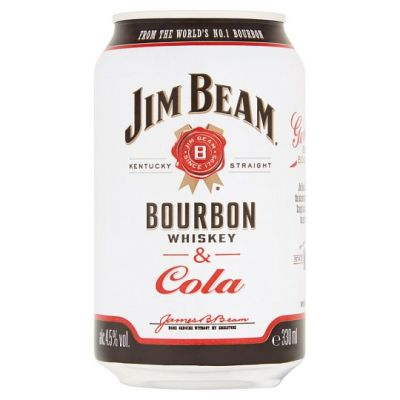 Jim Beam Boubon & Cola 33 cl