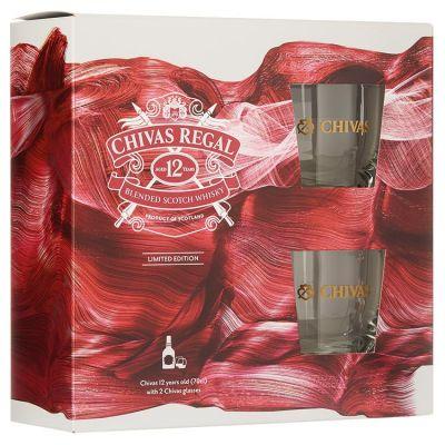 Chivas Regal Whisky Met 2 glazen 70 cl