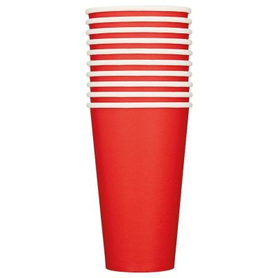 Duni Red Cups BIO papier 50 cl 10 stuks
