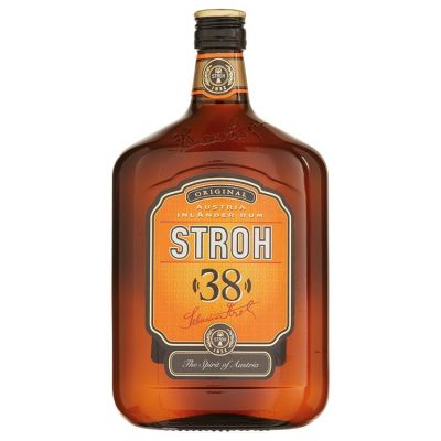 Stroh Rum 38% met gratis hipflask! 70 cl