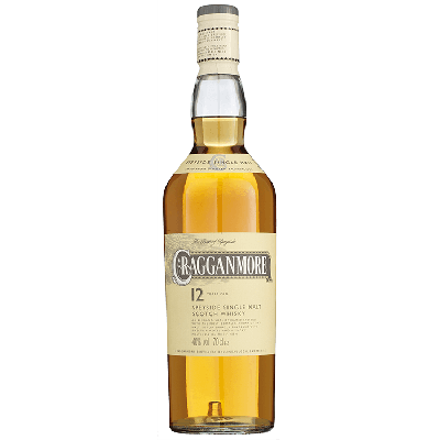 Cragganmore Single Malt 12 Years Whisky 70 cl