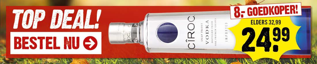 Ciroc vodka actie